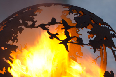 """Up North 37"""" Fire Pit Sphere"""