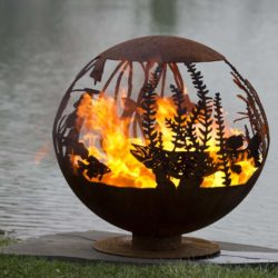 "Red Lake Fire Pit 37"" Fire Pit Sphere"