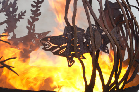 Red Lake Fire Pit Sphere - The Fire Pit Gallery