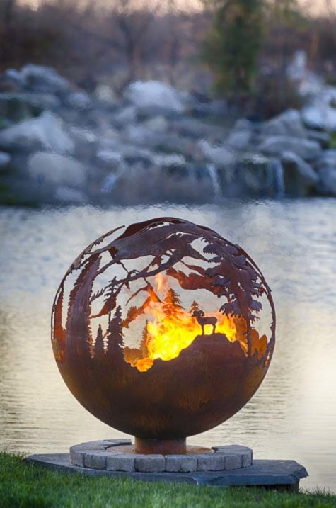 """High Mountain 37"""" Fire Pit Sphere"""