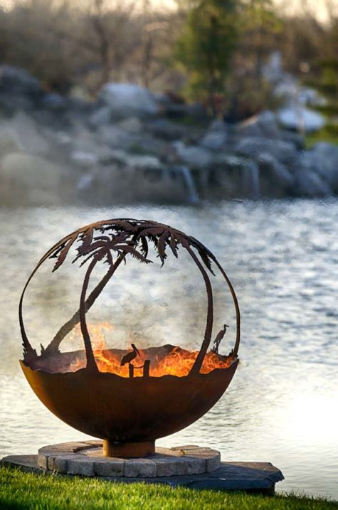 "Another Day in Paradise 37"" Fire Pit Sphere"