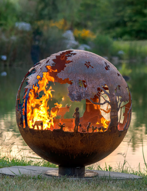 Appel Crisp Farms - Farm Fire Pit Sphere - Animals - Chickens - Ducks-Chickens