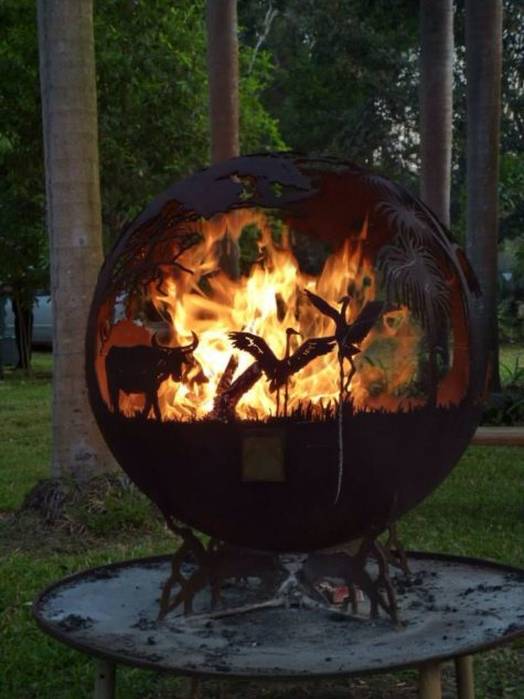Outback fire pit sphere