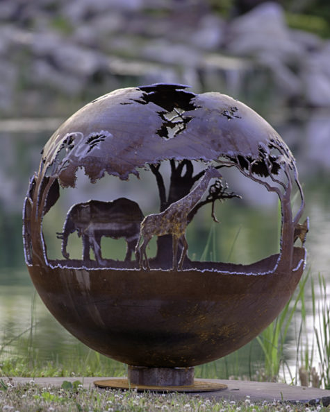 African Safari_Fire_Pit_Sphere_Elephant_5