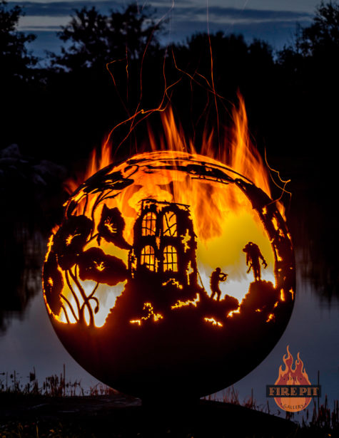 Lest We Forget fire pit sphere 02 - The Fire Pit Gallery
