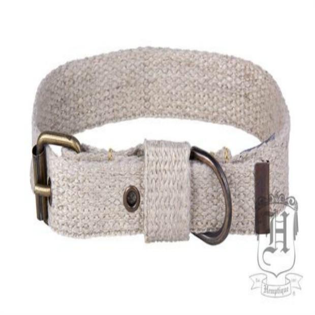 100 % HEMP Dog Collar-LARGE