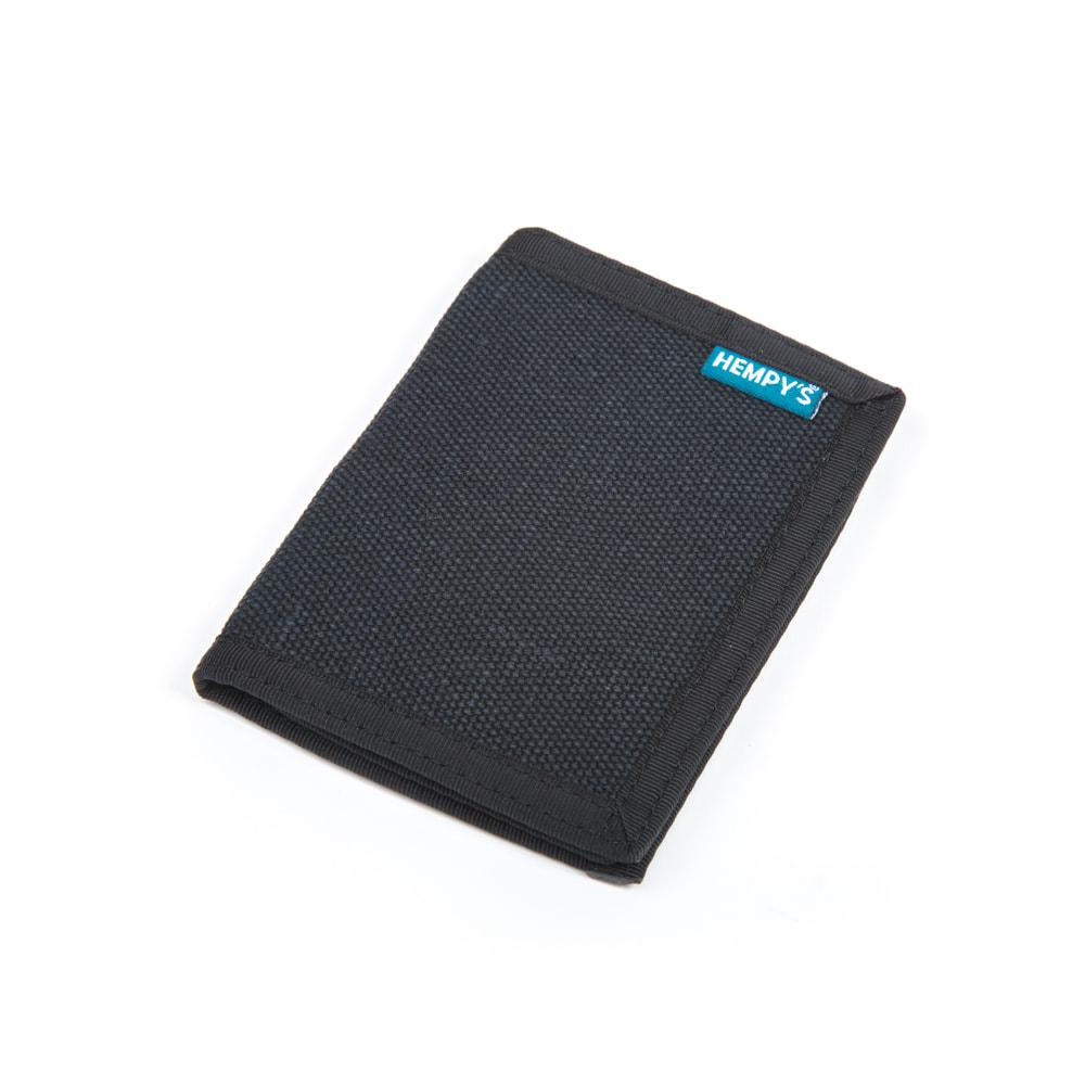 100 % Hemp Bi-fold Wallet-Blue with Black Trim