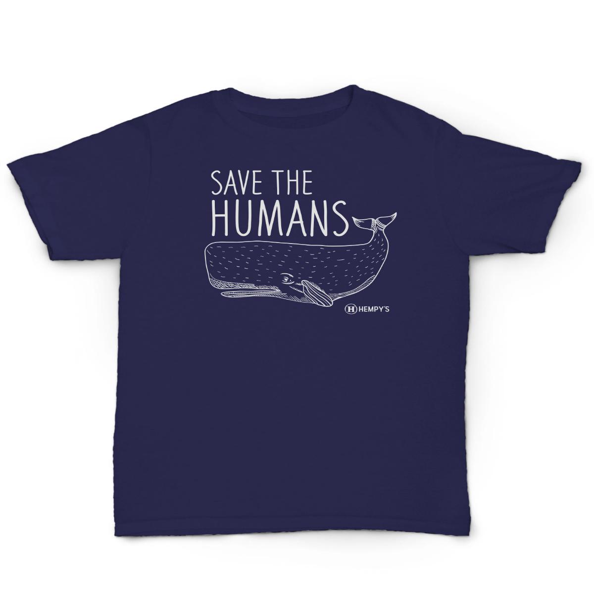 Hemp T-Shirt Save The Humans