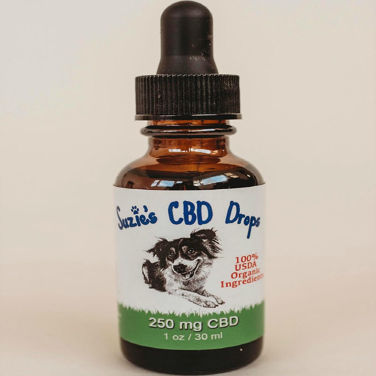 Suzie's ORGANIC CBD Pet Drops 250 mg