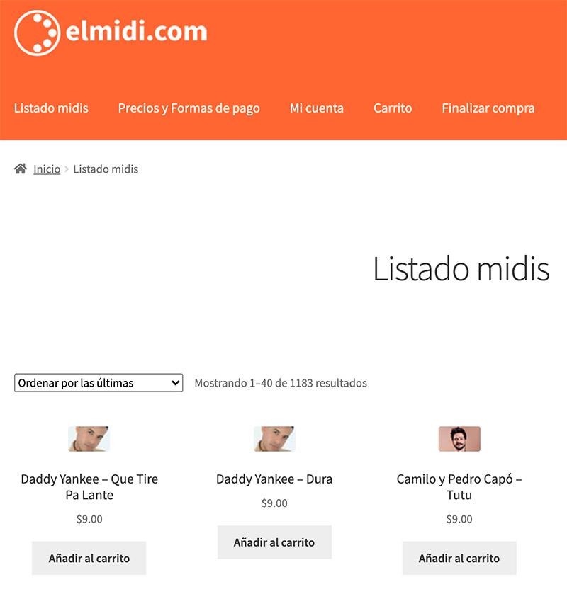 pagina principal de elmidi.com