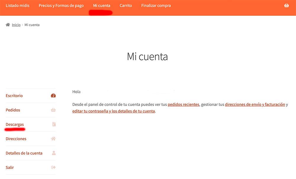 pagina mi cuenta en elmidi.com