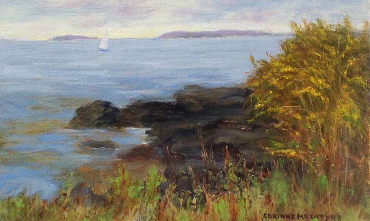 Corinne McIntyre Peaceful Sail on Lnekin Bay