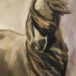 Sable Horse study Daily Artist axrylic on linen March 20, 2020