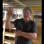 This photo of Karl Neubauer is a link and also educational to the AVA audience because he is describing the process of organizing the basement of the AVA Gallery and Art Center