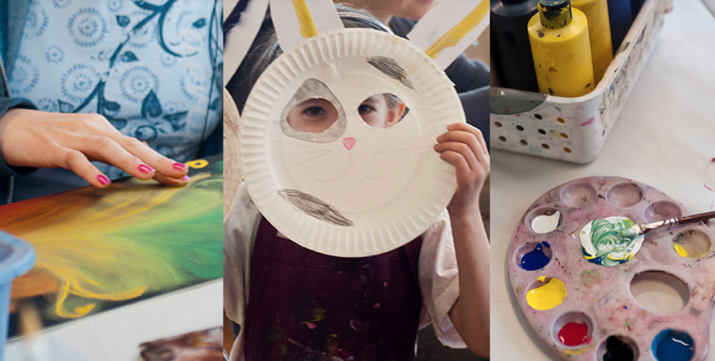 The photo is a link to AVA''s Online Summer Camp offerings and to inspire the creative spirit in children and parents and to let them know about AVA Gallery and Art Center's online summer camp program.