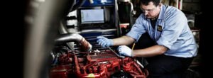 Foley Truck Center Service Tech Repairing Engine