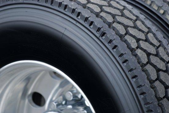Semi-Truck Tire with tread