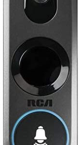 Doorbell Video Ring Security Camera by RCA New and Improved – with Mobile Doorbell Ring, 3MP HD Video, Live Stream, No Recording Storage Fees, Night Vision and Motion Detection