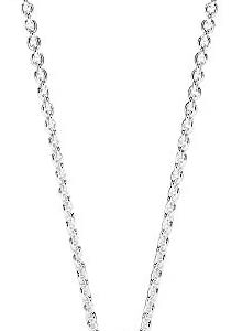 Pandora Jewelry Round Sparkle Halo Cubic Zirconia Necklace in Sterling Silver, 17.7″