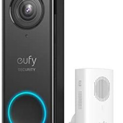 eufy Security, Wi-Fi Video Doorbell, 2K Resolution, Real-Time Response, No Monthly Fees, Secure Local Storage,Human Detection, 2-way audio, Free Wireless Chime (Requires Existing Doorbell Wires, 16-24
