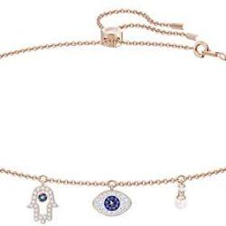 SWAROVSKI Women's Symbolic Necklace, Multi-colored, Rose-gold tone plated