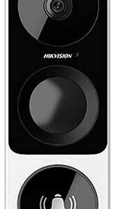 DS-HD1 Hikvision USA Original 3 Megapixel HD WiFi Video Smart Doorbell – Wireless Intercom Camera, 3MP, 180 Degree Ultra Wide Angle, Motion Detection, Video Recording Night Vision Video Audio