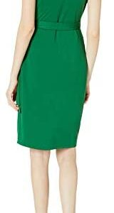 Amazon Brand – Lark & Ro Women's Classic Cap Sleeve V-Neck Diana Wrap Dress
