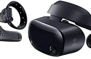 Samsung HMD Odyssey+ Windows Mixed Reality Headset with 2 Wireless Controllers 3.5″ Black (XE800ZBA-HC1US)