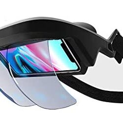 AR Headset, AR Box FOV 90°+ Augmented Reality Holographic Projection AR Viewer Smart Helmet with Controller for iPhone & Android 4.5 – 5.5 in Immersive 3D Videos/Games,fits Chengzi VR (Chinese) only