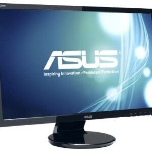 ASUS VE248H 24″ Full HD 1920×1080 2Ms HDMI DVI VGA Back-Lit LED Monitor,Black