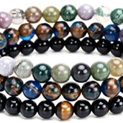 Joan Nunu Charm Bracelet for Men Women Black Mantra Prayer Beads
