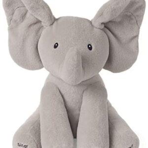 Baby GUND Animated Flappy the Elephant Stuffed Animal Plush, Gray, 12″
