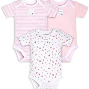Burt's Bees Baby – Unisex Baby Bodysuits, 3-Pack Long & Short-Sleeve One-Pieces, 100% Organic Cotton