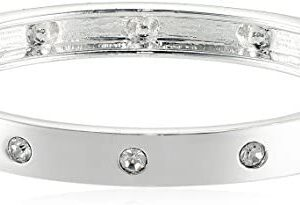 Guess Narrow Hinge with Crystal Bangle Bracelet