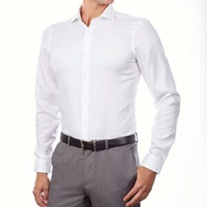 Calvin Klein Men's Dress Shirt Slim Fit Non Iron Stretch Solid