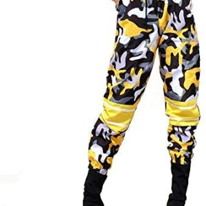 malianna Women Elastic Waist Patchwork Trousers Casual Streetwear Pencil Pants