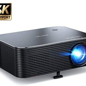"Projector, APEMAN Native 1080P HD Video Projector, 300"" Display, Remote Electronic Keystone Correction, Support 4K Movie, HDMI/USB, for iPhone/Fire Stick/PC/Xbox, Home Theater/Business Presentation"