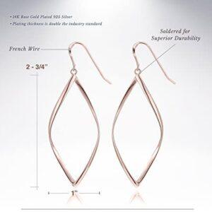 14K Gold Plated Infinity Sterling Silver Post Hoop Earrings for Women