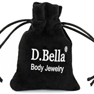 D.Bella 14G Stainless Steel Belly Button Rings 10mm 3/8″ Barbell Belly Navel Rings Piercing for Women Girls