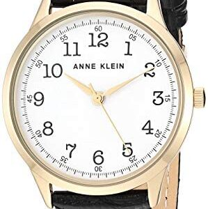 Anne Klein Women's Easy to Read Leather Strap Watch, AK/3560