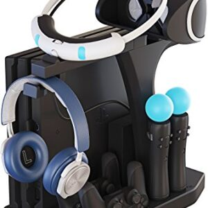 Skywin PSVR Charging Display Stand – Showcase, Cool, Charge, and Display your PS4 VR – Playstation 4 Vertical Stand, Fan, Controller Charger and Hub