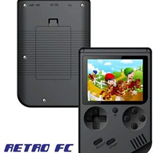 Handheld Games Console for Kids Adults – Retro Video Games Consoles 3 inch Screen 168 Classic Games 8 Bit Game Player with AV Cable Can Play on TV (Black)