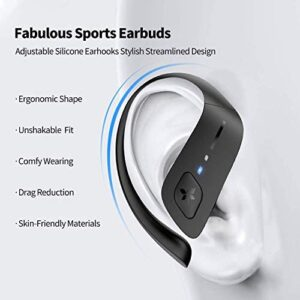 Axloie Sport Wireless Earbuds, [Upgraded] Bluetooth 5.0 Headphones True Wireless Premium Deep Bass IPX7 Waterproof 35H Playtime in-Ear TWS Stereo Earphones with Charging Case for Running Workout Gym