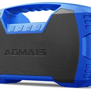 AOMAIS GO Bluetooth Speakers,Waterproof Portable Indoor/Outdoor 30W Wireless Stereo Pairing Booming Bass Speaker,30-Hour Playtime with 8800mAh Power Bank,Durable for Home Party,Camping(Blue)