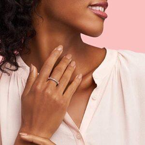 Pandora Jewelry Pink Sparkling Crown Crystal Ring in Pandora Rose, Size 6