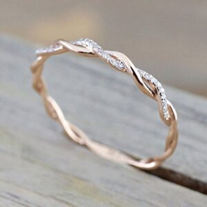 Barogirl Twist Ring Engagement Ring for Women Women's Rings for Lovers YR905(10)