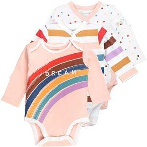Baby Newborn Onesies Bodysuit Pack Long Sleeve Bodysuits, Girl, 3-Pack