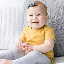 Colored Organics Unisex Baby Organic Cotton Bodysuit – Short Sleeve Infant Onesie