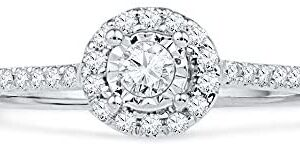 10KT White Gold Round Diamond Promise Ring (1/4 cttw)