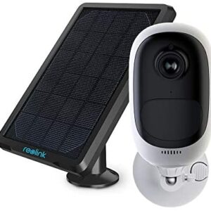 REOLINK Outdoor Security Camera Rechargeable Battery 1080P Wireless Surveillance Support Cloud Google Assistant Night Vision PIR Motion Detection SD Slot | Argus Pro with Solar Panel